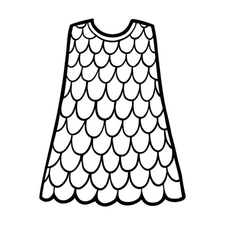 Coloring book for children, Dress Ilustracja