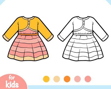 Coloring book for children, Dress with bolero