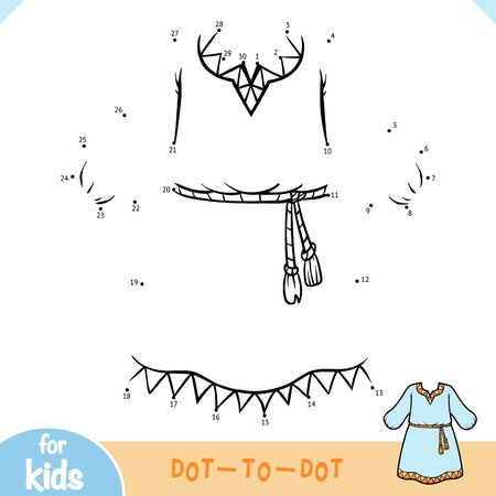 Numbers game, education dot to dot game for children, Dress