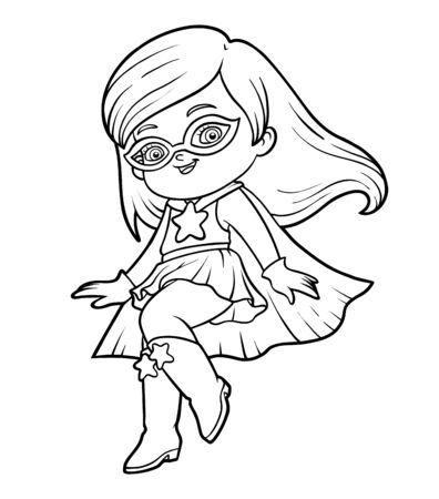 Coloring book for children, Super hero girl
