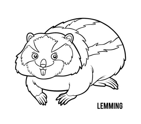 Coloring book for children, Lemming