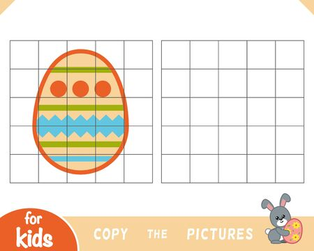 Copy the picture, education game for children, Easter egg