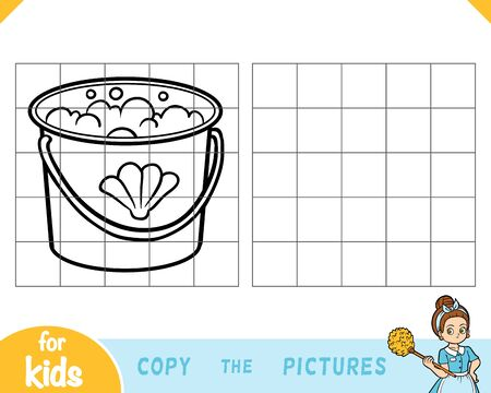Copy the picture, education game for children, Bucket with water