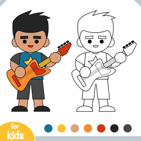 Coloring book for children, Punk rock guitarist