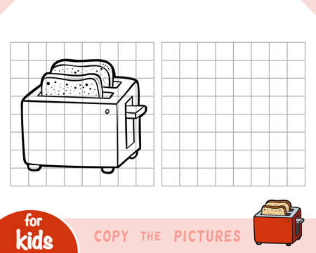 Copy the picture, education game for children, Two Slice Toaster