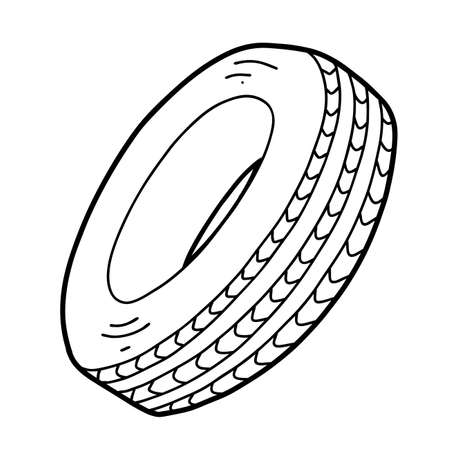 Coloring book for children, Car tire