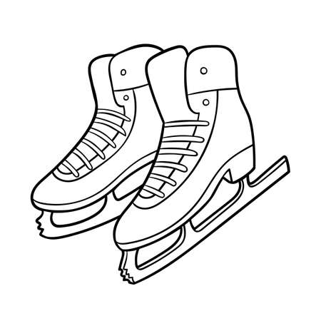 Coloring book for children, Figure skating