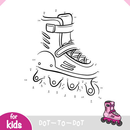 Education dot to dot game of roller skates