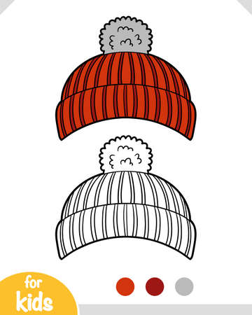 Coloring book for children, Knitted hat