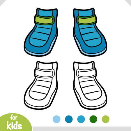 Coloring book for children, Waterproof winter boots