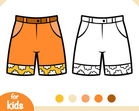 Coloring book for children, Kids shorts