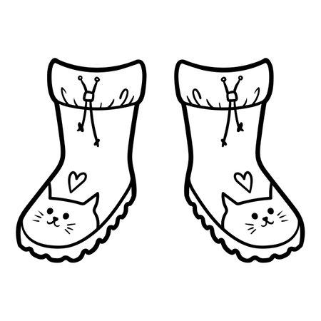 Coloring book for children, Waterproof boots Ilustração