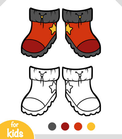 Coloring book for children, Waterproof boots  イラスト・ベクター素材