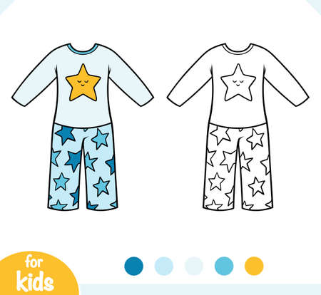 Coloring book for children, Pajamas for boys