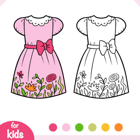 Coloring book for children, Dress