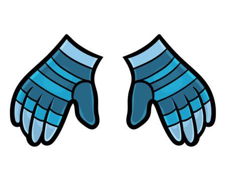 Cartoon vector illustration for children, warm gloves  イラスト・ベクター素材