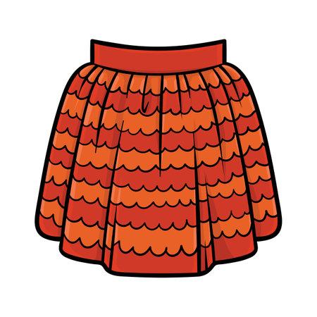 Cartoon vector illustration for children, Ruffled skirt