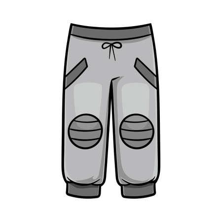 Cartoon vector illustration for children, Sport pants