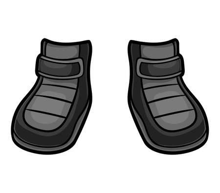 Cartoon vector illustration for children, Waterproof snow boots