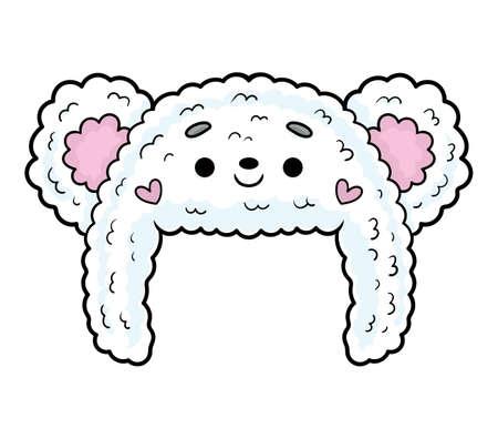 Cartoon vector illustration for children, Hat for girl