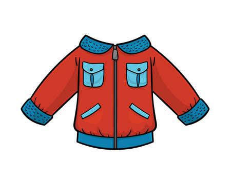 Cartoon vector illustration for children, Kids aviator jacket