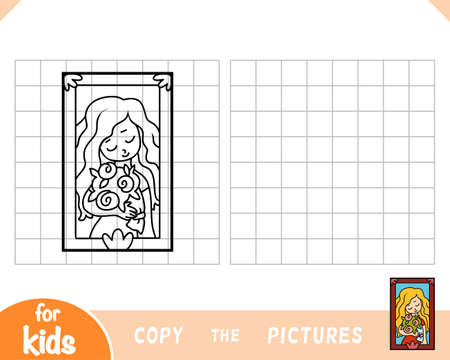 Copy the picture, education game for children.  イラスト・ベクター素材