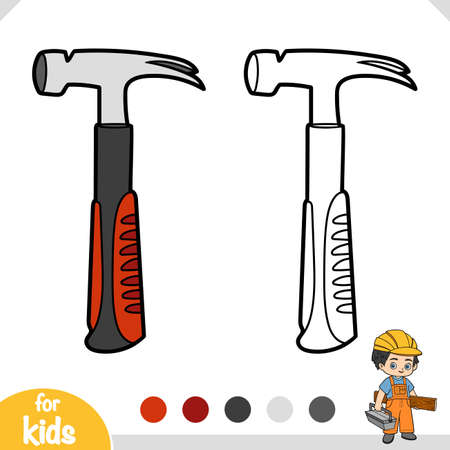 Coloring book for children, Hammer  イラスト・ベクター素材