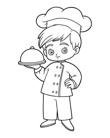 Coloring book for children, Chef