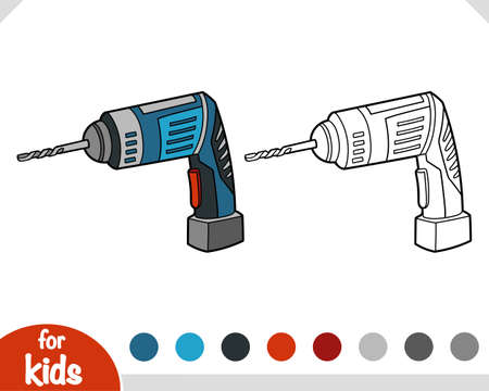 Coloring book for children, Drill