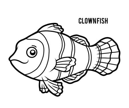 Coloring book for children, Clown fish