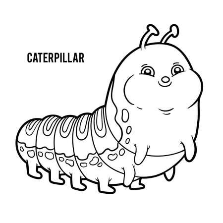 Coloring book for children, Caterpillar
