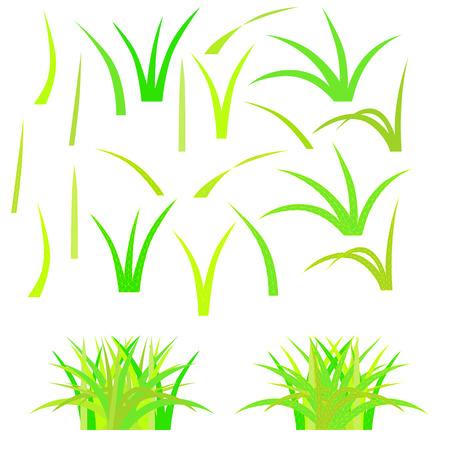 Geïsoleerde mozaïek gras. Vector illustratie. Gemakkelijk te wijzigen en te kleuren. Stock Illustratie
