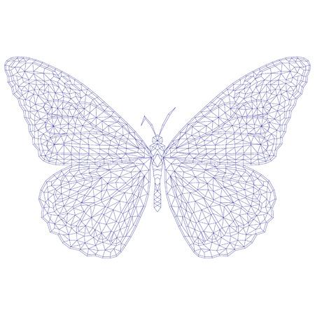 Libélula De Mosaico Para Colorear Y Diseño. Ilustración Vectorial ...