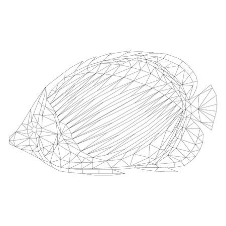 Mariposa De Mosaico Para Colorear Y Diseñar. Ilustración Vectorial ...