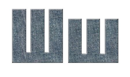 Jeans russian, ukrainian alphabet. Stock Photo