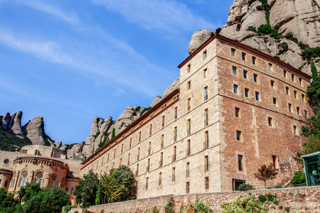 The Mountain of Montserrat (Catalonia, Spain). Montserrat mountains and Benedictine monastery of Santa Maria de Montserrat. Editorial