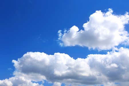 Blue sky background with white clouds. Clouds with blue sky. Clouds background. Sky print. Clouds print Standard-Bild