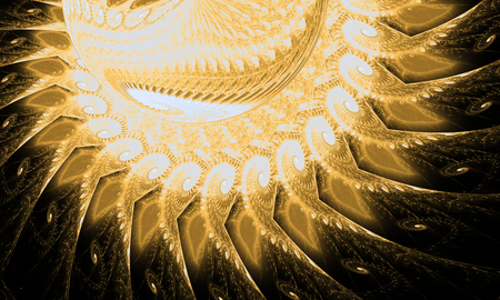 Abstract fractal. Fractal art background for creative design. Decoration for wallpaper, desktop, poster, cover booklet. Print for clothes, t-shirt. Creative illustration for design