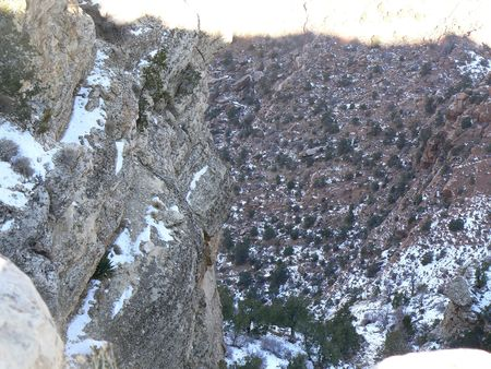 snow in Grand Canyon Stok Fotoğraf