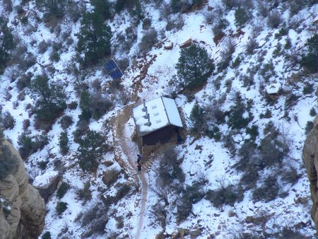 Cabin at bottom of Grand Canyon