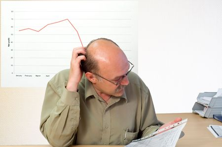 project manager look at the financial account