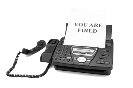 notification: Fax machine with tne dismissal notification