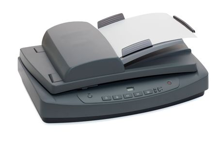 fax: Multifunctional flatbed scanner closeup