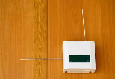 signalling device: Alarm system device on the wall Stock Photo