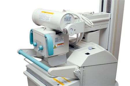 X-ray unit in the hospital Stock Photo