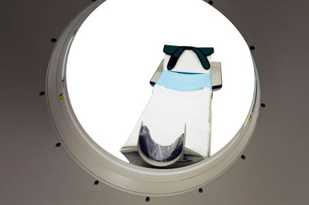 Tomograph in the hospital isolated on white Stock Photo - 3087088