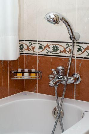 Bathroom in the hotel photo