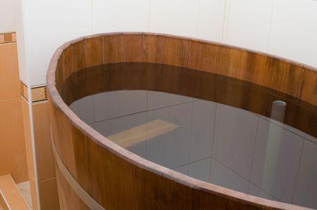 Interior of sauna photo