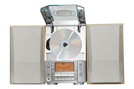 Compact system with CD player Stock Photo