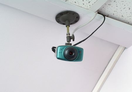Video camera as a part of security system Stock Photo